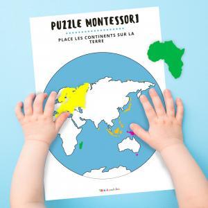 Un puzzle planisphère à imprimer gratuitement