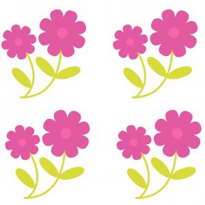 Image de fleurs à imprimer pour réaliser des bricolages de Pâques avec les enfants