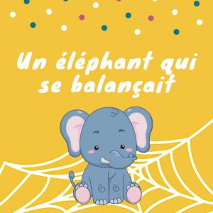 """Imprimez les paroles de la chanson """"Un éléphant qui se balançait""""   afin de l'apprendre en famille. Vous pourrez ainsi la chanter tous ensemble. c'est une chanson que les enfants adorent  et qui est intemporelle."""