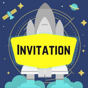 Imprimez votre invitation pour pouvoir inviter tout le monde au meilleur anniversaire de l'espace de l'univers. Il suffira de l'imprimer sur une feuille A4 et de la monter afin de pouvoir la glisser dans l'enveloppe qui va avec.