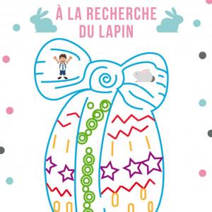 Jeu de labyrinthe gratuit à imprimer - Aliette veut rejoindre le lapin de Pà¢ques , pour cela elle doit traverser le labyrinthe en forme d'oeuf de Pà¢ques