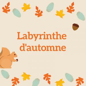 Un jeu de labyrinthe à imprimer pour jouer sur l'automne - Imprimez le jeu de labyrinthe et demandez à votre enfant de d'aider la chenille à traverser le champignon