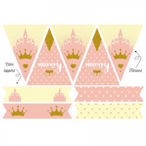 Imprimez gratuitement ce kit anniversaire pour une décoration de Princesse. Ces décorations d'anniversaire sont très faciles à préparer pour un anniversaire. Elles sont gratuites, il vous suffira juste de les imprimer, de les découper et de les installer.