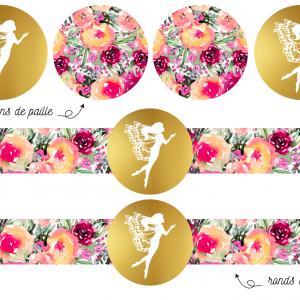 Imprimez gratuitement de la décoration rose grâce à ce Kit pour anniversaire de Fée