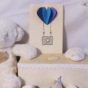 Une activité pour réaliser une carte coeur en papier montgolfière pour la saint valentin