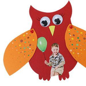 tuto pour bricoler avec les enfants une carte hibou pour la fête des pères ou la fête des mères