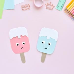 Découvrez comment fabriquer une glace DIY. Une activité de collage rafraîchissante pour les enfants.