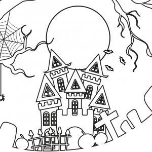 Imprimez gratuitement ce coloriage d'Halloween. Il s'agit d'une maison hantée que vous enfants pourront s'amuser à colorier. Vous pouvez aussi l'utiliser pour créer la maison hantée d'halloween éclairée.