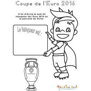La mascotte de l'Euro et le vainqueur 2016