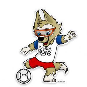 """La mascotte de la coupe du monde 2018 est un sympathique loup nommé """"Zabivaka"""". Zabivaka signifie « celui qui marque en russe ». Découvrez des informations sur la mascotte de la coupe du monde et des activités à faire avec les enfants."""