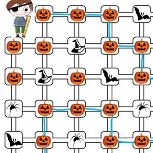 Labyrinthe citrouilles d'Halloween