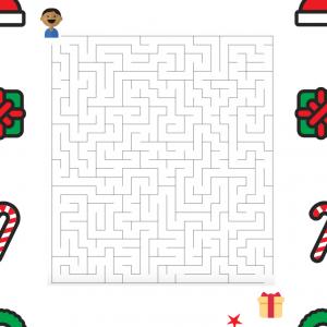 Jeu de labyrinthe pour Noël. Mais où est le gros cadeau de Toto ? Votre enfant peut-il trouver le chemin qui le mènera au gros cadeau ? Imprimez le labyrinthe et vous verez !