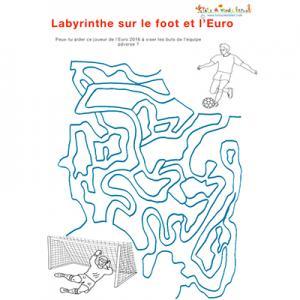 Labyrinthe sur le foot et l'Euro