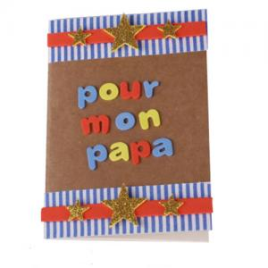 Un tuto pour apprendre à personnaliser un  petit carnet pour un  cadeau de Fête des pères copie