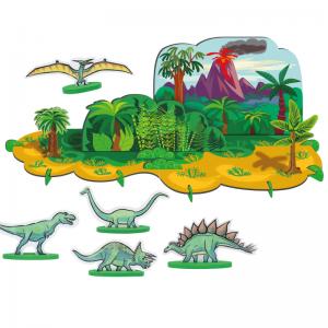 Le décor dinosaure en 3D est un excellent jeu de construction qui va ravir tous les enfants qui aiment les ambiances à la Jurassic Park.