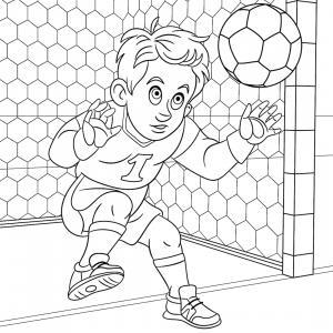 Le gardien défend ses buts