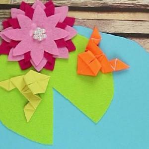 Un joli jeu de courses de grenouilles en origami à fabriquer avec les enfants