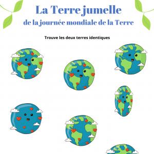 jeu à imprimer pour la journée mondiale de la terre le 22 avril. Un jeu gratuit à imprimer afin de proposer à votre enfant un enfant sur cette journée spéciale.