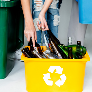 le verre est un déchet recyclable