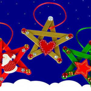 activité de bricolage enfants pour réaliser des étoiles de noël pour décorer le sapin