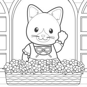 Un dessin à imprimer et à colorier de maman chat Un dessin à imprimer et à colorier de maman chat