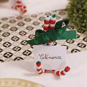 Un tuto pour réaliser des marque-places de Noël en sucres d'orge