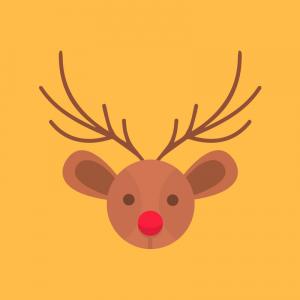"""Les paroles de la chanson de Noël """"Petit renne au nez rouge"""" à télécharger et à imprimer gratuitement"""