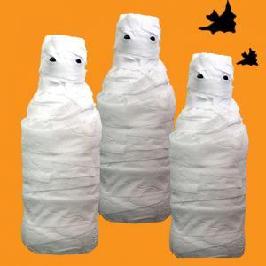 Une idée de bricolage qui vous permettra de réaliser rapidement tout un jeu de quilles en forme de momies. Une idée de bricolage parfait pour les jeux d'Halloween. Les quilles momies d'Halloween seront un jeu parfait pour s'occuper le jour d'Halloween