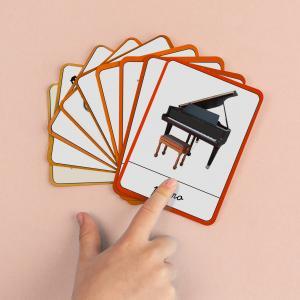 L'imagier Montessori des instruments de musique à imprimer Tête à modeler