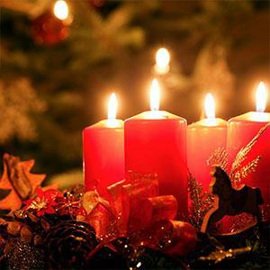Bougeoirs, lumières et photophores  de Noël