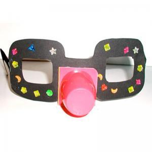 Fabriquer des lunettes  de clown pour se déguiser