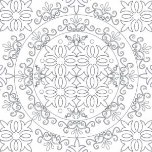 Un dessin de mandala inspiré par les arabesques andalouses. Mandala complexe sur le jardin N°6 qui occupera les plus grands ou les plus concentrés.