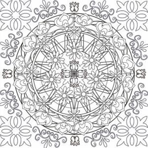Voici un mandala très complexe ayant beaucoup de petits détails imbriqués les uns dans les autres. Le coloriage de ce mandala demandera une vrai précision du geste écrit ainsi qu'une bonne concentration.