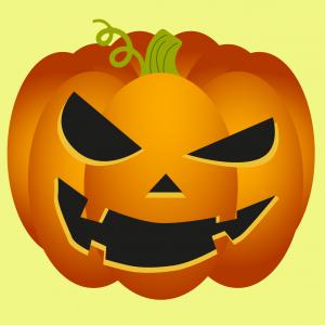 Masque d'Halloween à imprimer gratuitement afin d'avoir un déguisement de citrouille de dernière minute. Il suffira de l'imprimer sur du papier épais, de la découper afin de pouvoir partir à la chasse aux bonbons !