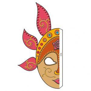 Imprimer le masque de Bali : 1. Ce très beau masque inspiré des masques de Bali est en deux parties à assembler, ce qui donne au final un grand masque.  Un modèle de masque à imprimer inspir&eacut