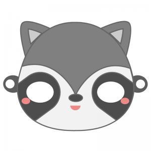 Un  masque de raton-laveur à imprimer gratuitement pour le Carnaval pour être tout mignon ! Il vous suffira de le découper et de la monter afin d'être déguisé en beau raton-laveur pour le Carnaval