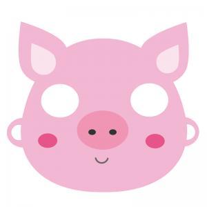 Un joli masque de cochon à imprimer pour le Carnaval. Il vous suffira de le découper et de la monter afin d'être déguisé en joli petit cochon tout rose pour le Carnaval.