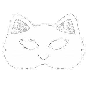 Un masque de chat à colorier gratuitement pour le Carnaval. copie copie copie copie copie copie copie