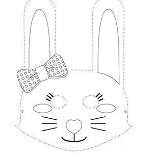 Un masque de lapin à colorier gratuitement pour le Carnaval. copie copie copie copie copie copie copie copie copie
