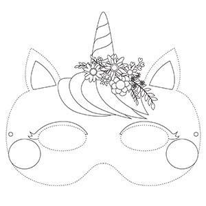 Un masque de licorne à colorier gratuitement pour le Carnaval. copie copie copie copie copie copie copie copie