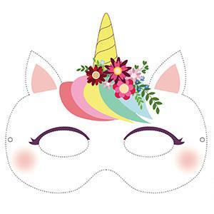 Un masque de licorne à imprimer gratuitement pour le Carnaval. copie copie