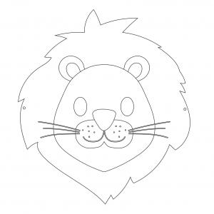 Imprimer le coloriage d'un masque de lion masque à imprimer pour le carnaval