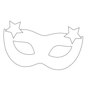 Imprimer le coloriage d'un masque loup étoile. Un masque à imprimer pour le carnaval