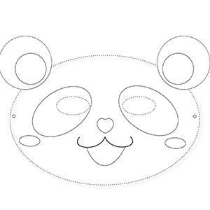 Un masque de panda à colorier gratuitement pour le Carnaval. copie copie copie copie copie copie copie copie copie copie