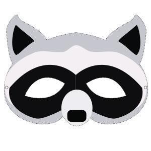 Un masque de raton laveur à imprimer gratuitement pour le Carnaval. copie copie copie copie