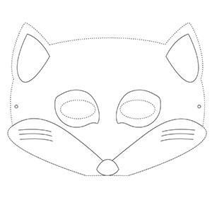 Un masque de renard à colorier gratuitement pour le Carnaval. copie copie copie copie copie copie