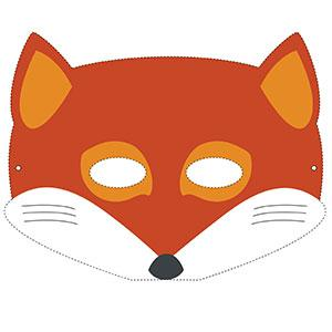 Un masque de renard à imprimer gratuitement pour le Carnaval. copie copie copie copie copie
