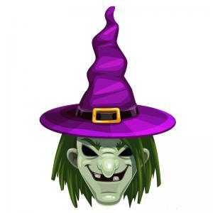 Un terrifiant masque de sorcière à imprimer pour Halloween. Il vous suffira de le découper et de la monter afin d'être déguisé en effrayante sorcière pour Halloween