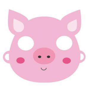 Un  masque de cochon à imprimer pour le Carnaval. Il vous suffira de le découper et de la monter afin d'être déguisé en petit cochon pour le Carnaval
