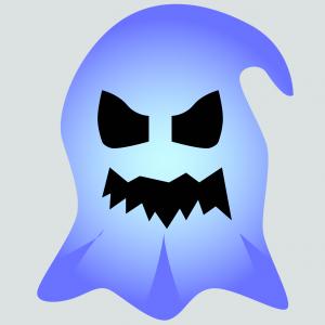Masque d'Halloween à imprimer gratuitement afin d'avoir un déguisement de fantôme de dernière minute. Il suffira de l'imprimer sur du papier épais, de la découper afin de pouvoir partir à la chasse aux bonbons !
